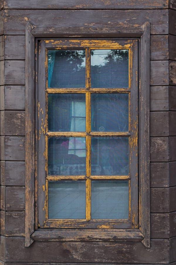 Brown window royalty free stock photo