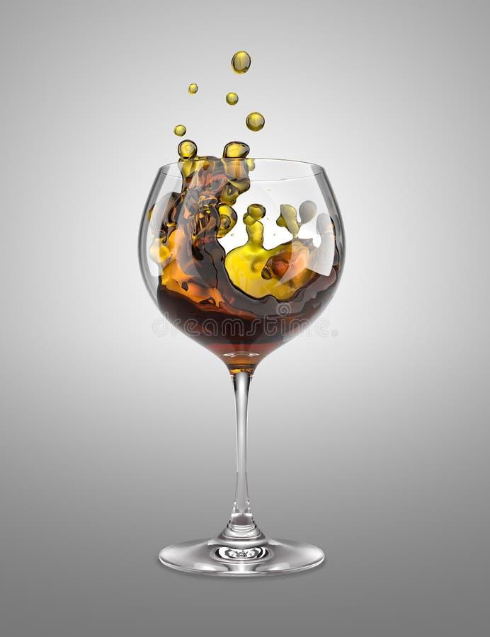 Brown wineglass