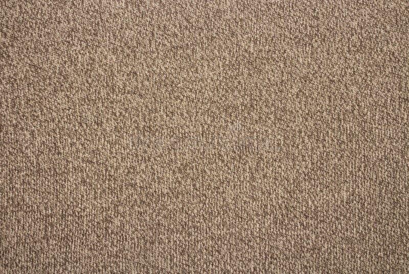 Brown-Wollbeschaffenheit Woolen gestrickter Hintergrund lizenzfreies stockbild