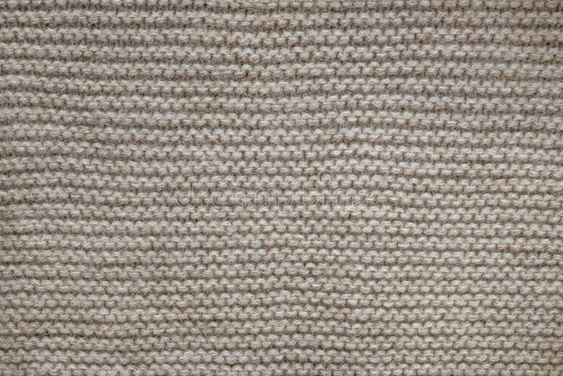 Brown-Wolleknitbeschaffenheit stockfotos