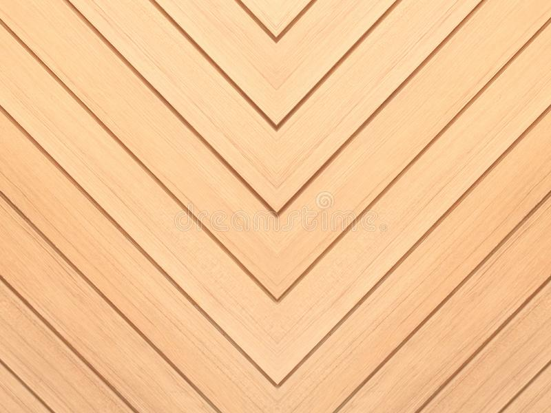 Brown wood background. Chevron natural oak floor pattern texture. Texture royalty free stock photography