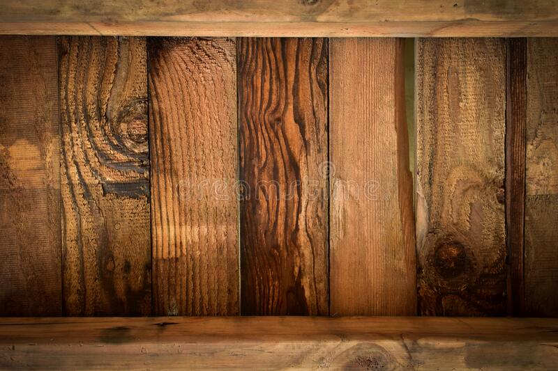 Brown wood barn texture background of timber case box from old wooden plank. Pallet weathered royalty free stock image