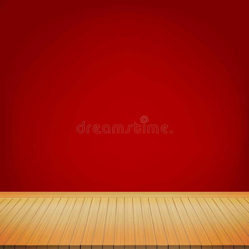 download brown wood floor with red background empty room with space stock vector image