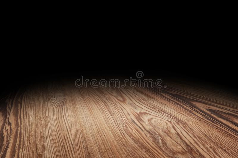 Brown wood floor texture perspective background for display or montage of product,Mock up template for your design.  royalty free stock image