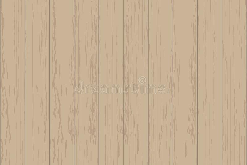 Brown wood plank texture for background. Vector. Illustration royalty free illustration