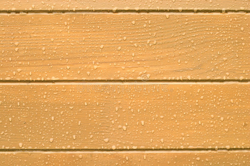 Brown wood planks background with water drops stock photo