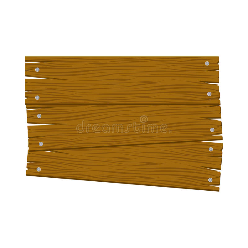 Brown wood sign icon image. Illustration design royalty free illustration