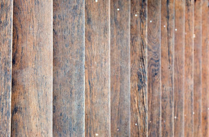 Brown wood stair background stock photo