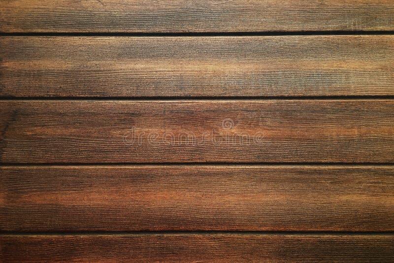 Brown wood texture, dark wooden background stock photo