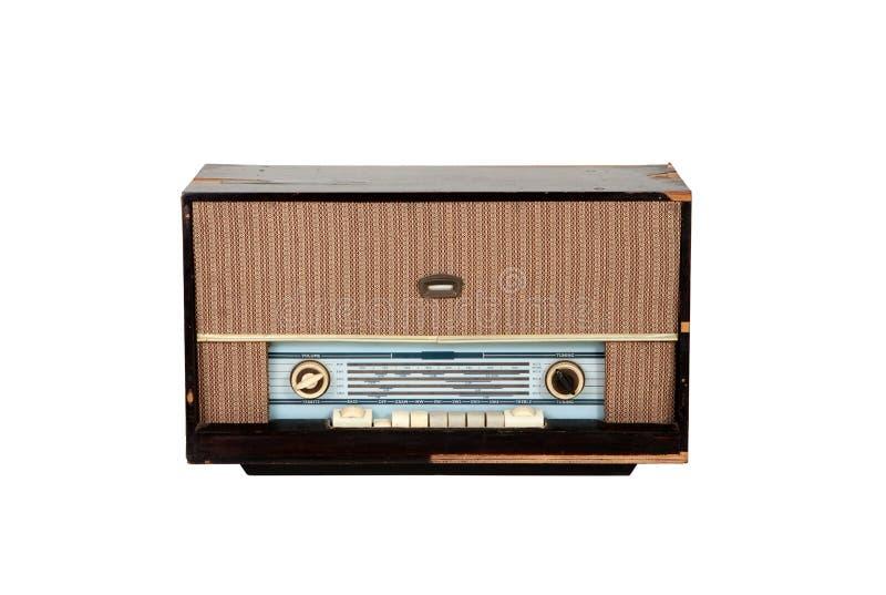 Brown wooden analog radio royalty free stock photo