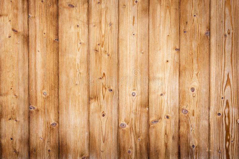 Brown wooden boards with beautiful grain royalty free stock images