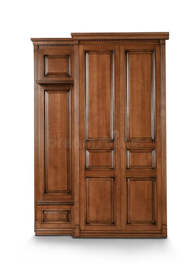 Free Brown Wooden Cabinet On White Background Royalty Free Stock Photography - 101154267