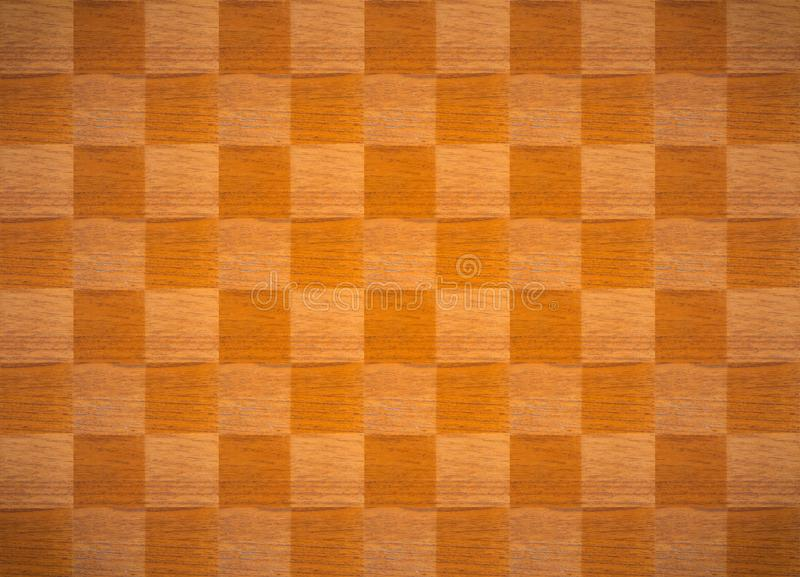 Wooden chess table texture background. stock illustration
