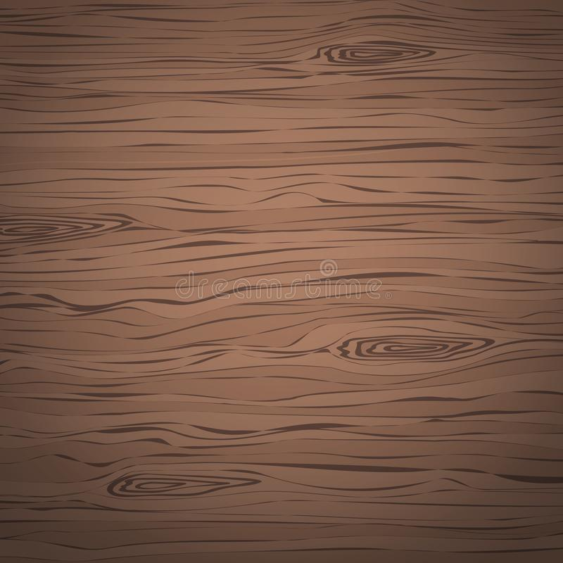Brown wooden cutting, chopping board, table or floor surface. Wood texture stock illustration