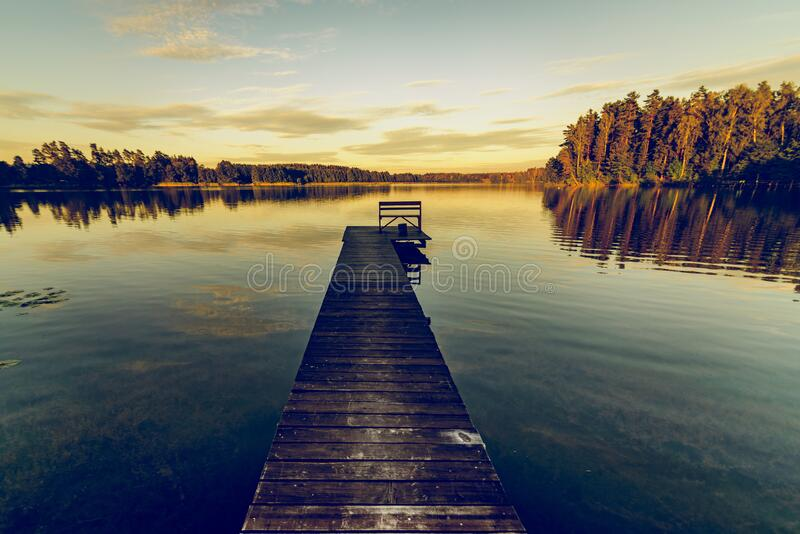 Brown Wooden Dock during Daylight stock photos