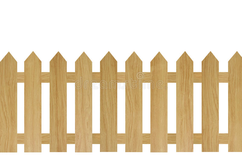 Brown wooden fence stock photography