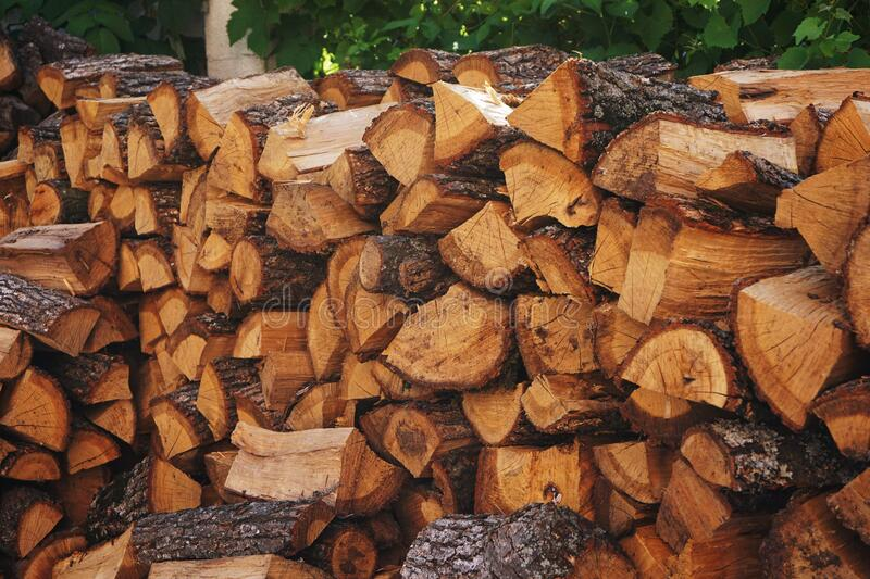 Brown Wooden Firewood stock photography