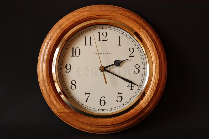 Brown Wooden Framed Clock Showing 2:19 Free Public Domain Cc0 Image