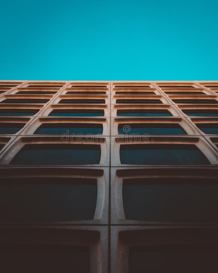 Brown Wooden Frames With Teal Background stock image