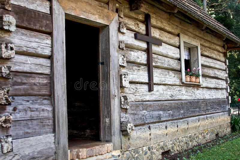 Brown Wooden House royalty free stock photography