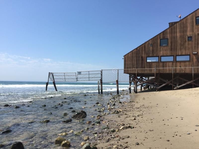 Brown Wooden House On Seashore Under Clear Sky Free Public Domain Cc0 Image