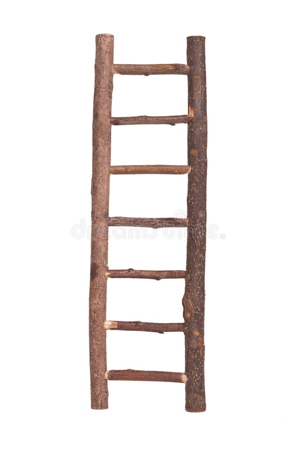 Download Brown Wooden Ladder Isolated Stock Image - Image: 19120499