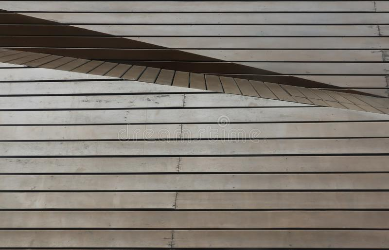 Brown wooden panel with diffent angle and layer royalty free stock photography