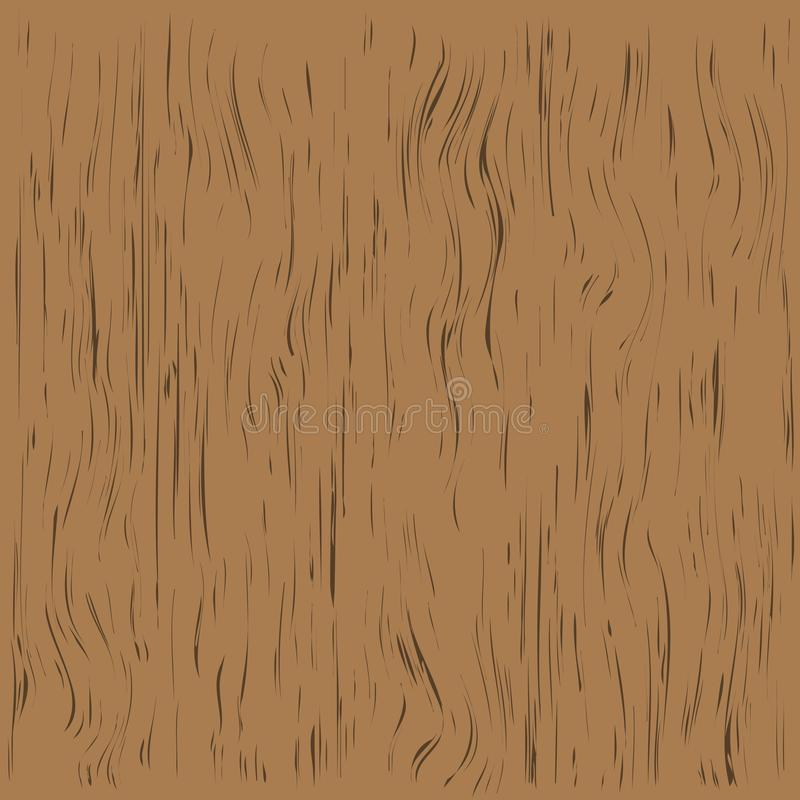 Brown wooden plank, cutting board, floor or table surface. Vector illustration stock illustration