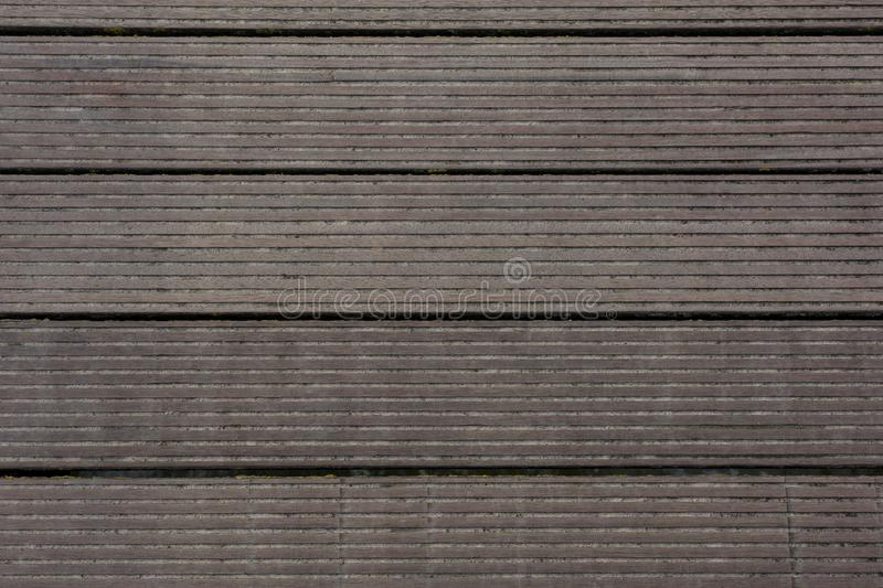 Brown wooden planks background in garden royalty free stock photography