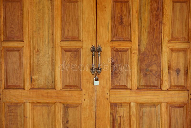 Brown wooden vintage door background royalty free stock photo