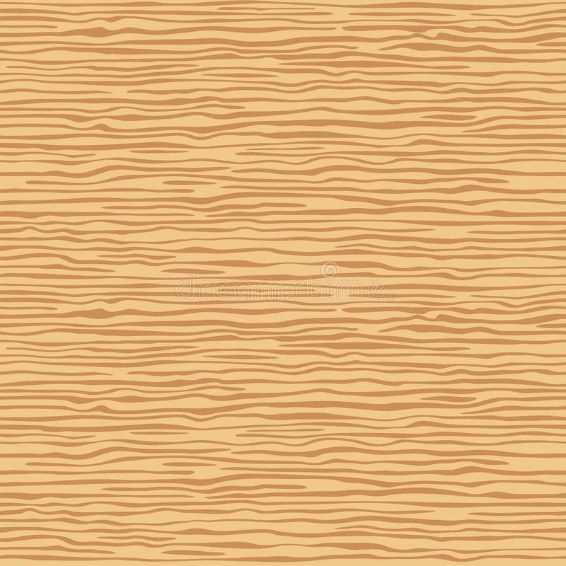 Brown wooden wall plank, table or floor surface. Cutting chopping board. Ð¡artoon wood texture, vector seamless background. royalty free illustration