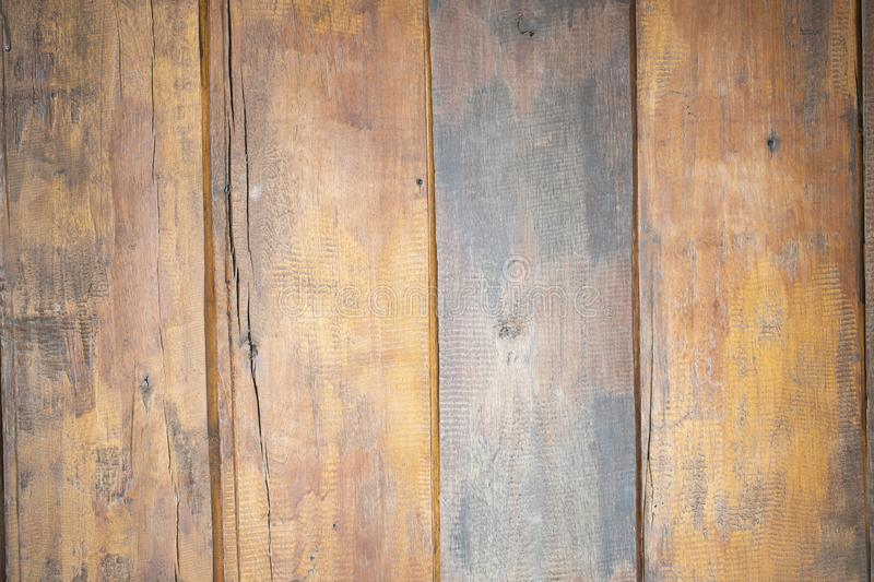 Brown wooden wall for use in graphic work for the texture background. Brown wooden wall vintage for use in graphic work for the texture background stock image