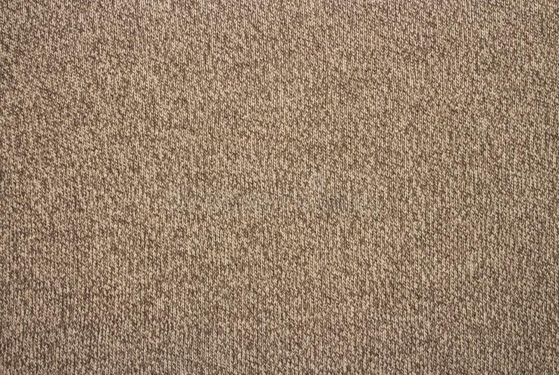 Brown wool texture.Woolen knitted background. royalty free stock image