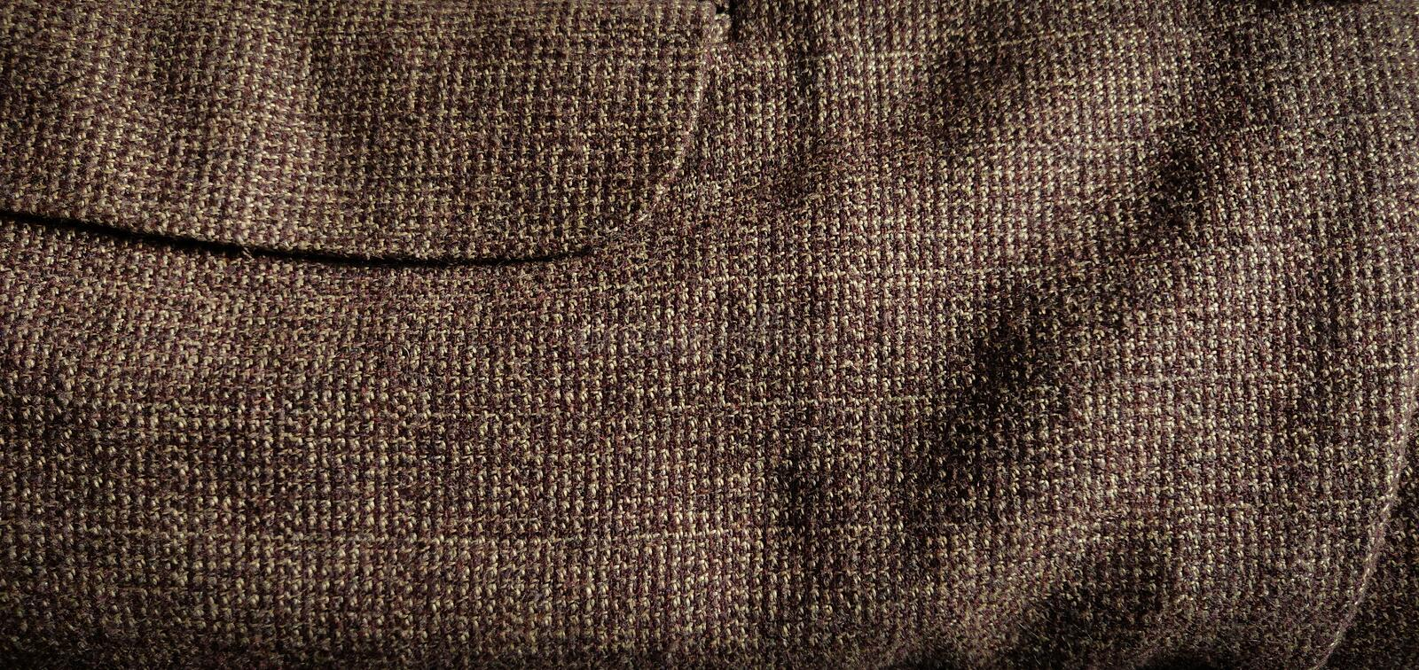 Brown Woolen Coat for men close up royalty free stock photography