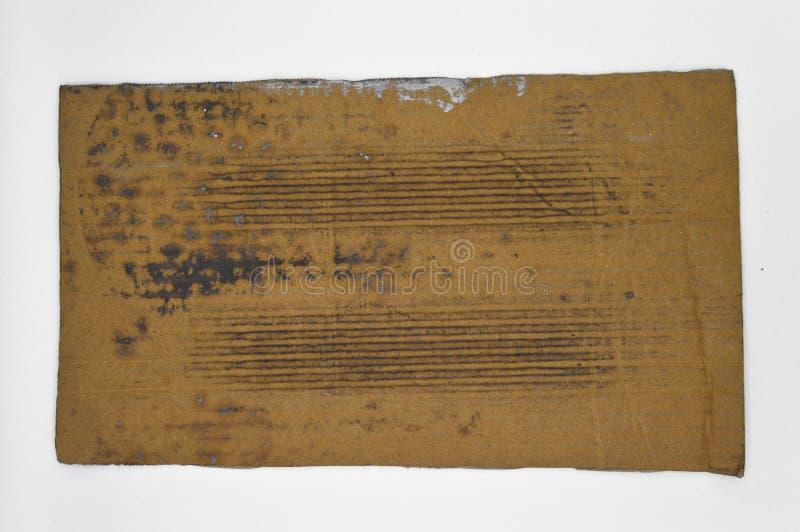 Brown y cartulina acanalada coloreada beige, sucios foto de archivo