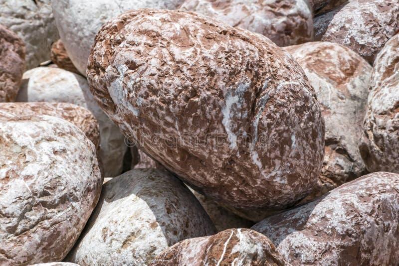 Brown y fondo de piedra poroso grande blanco del ronda y oval de la pila Material decorativo ambiental natural fotografía de archivo