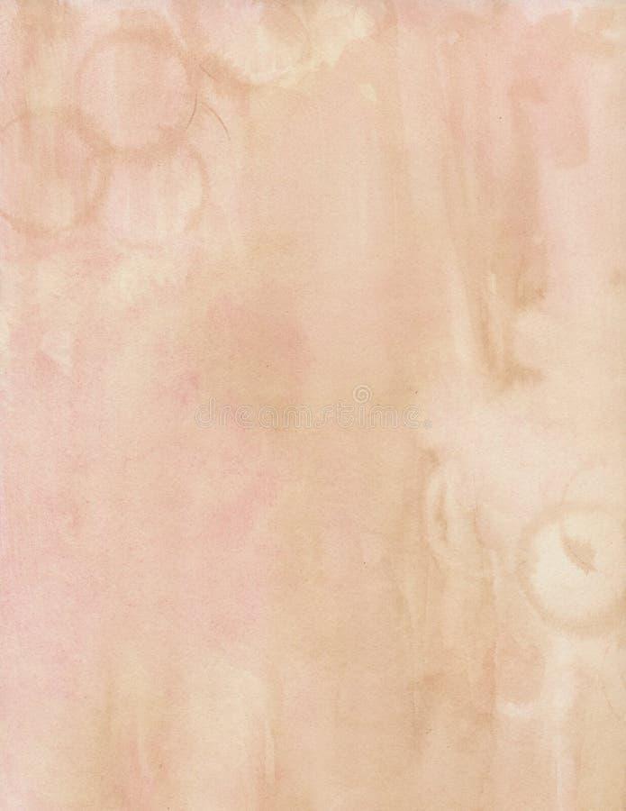 Brown y fondo sucio suave rosado del color de agua imagenes de archivo