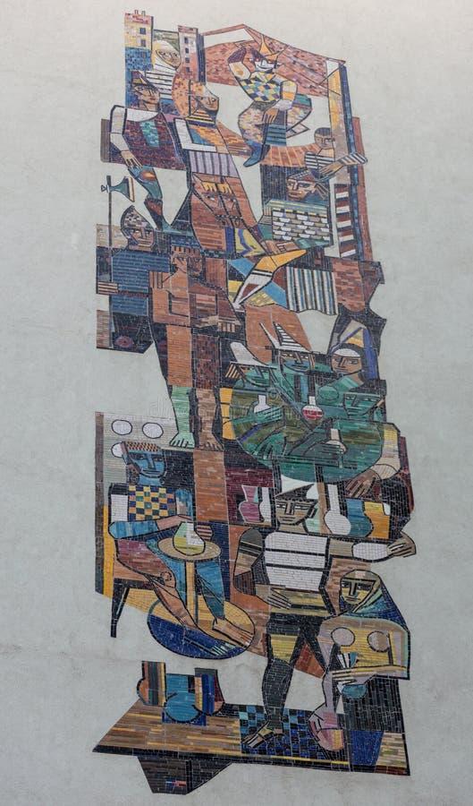 Brown y Grey Abstract Art Painting imagenes de archivo