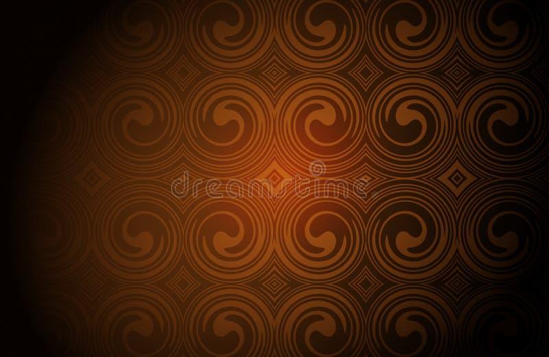 Brown y la guarnición abstracta blanca vertieron el papel pintado del fondo de 3 d ilustración del vector