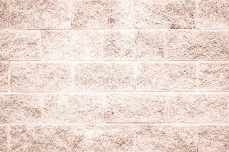 Brown y la pared de ladrillo blanca texturizan el resumen del fondo o del papel pintado fotografía de archivo