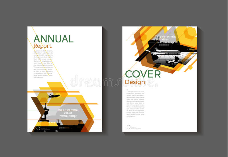 Brown Yellow Modern Abstract Cover Book Brochure Template Stock