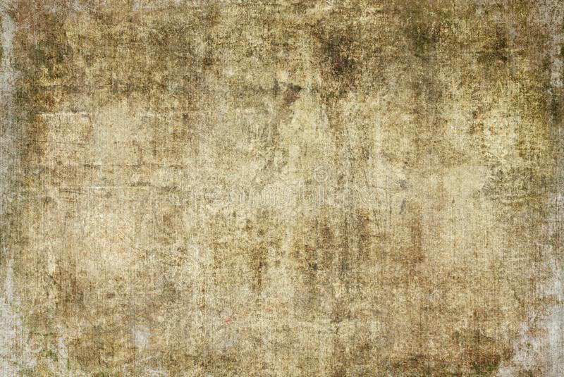 Nature Brown Cracked Grunge Dark Rusty Distorted Decay Old Abstract Canvas Painting Texture Pattern Autumn Background Wallpaper. Brown Yellow Nature Strokes stock images