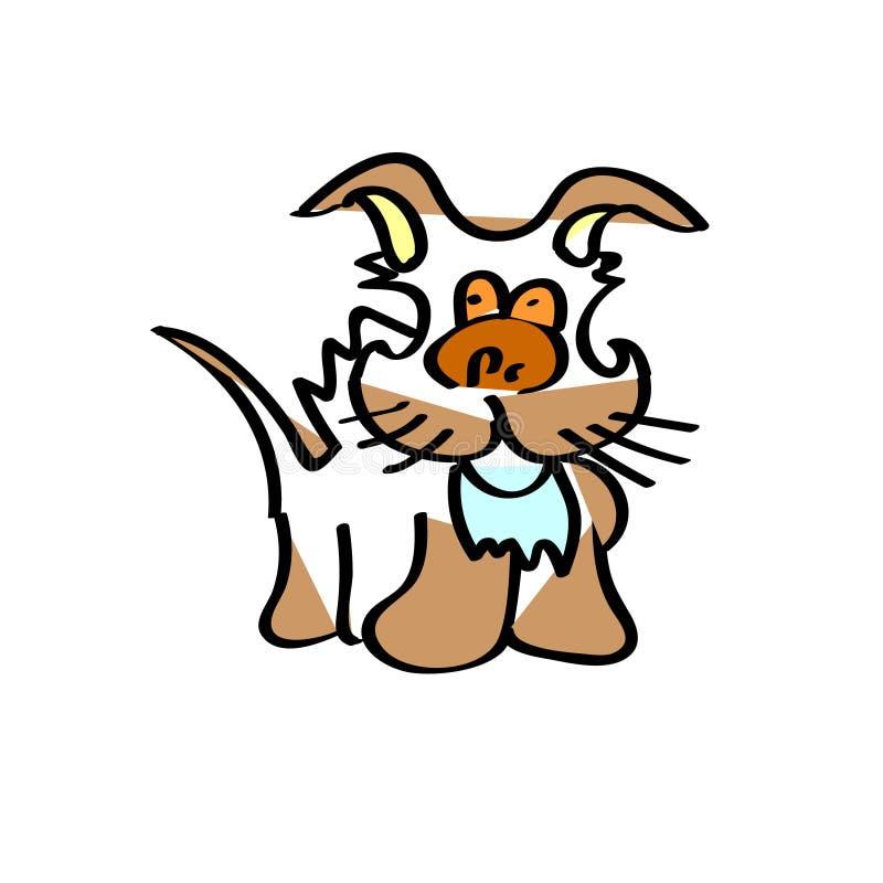 Brown ziemi psa dzieci rysować ilustracji