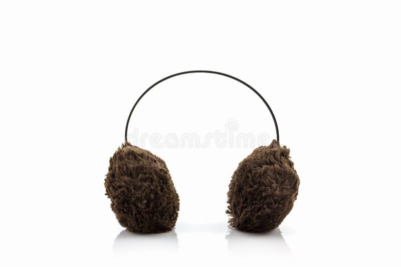 Brown zimy ucho zamazana mufka obrazy stock