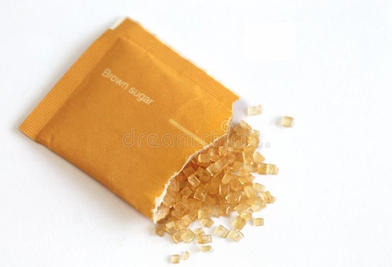 Brown-Zuckertasche lizenzfreie stockbilder