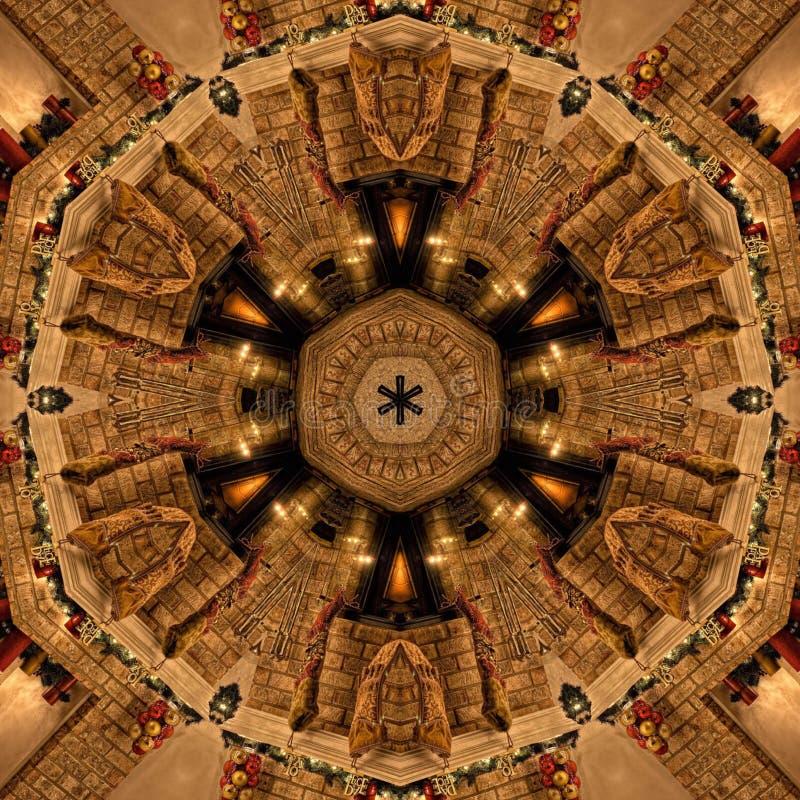 Brown-Zusammenfassungs-Mandala Kaleidoscope-Beschaffenheit lizenzfreie stockfotos