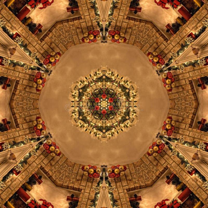 Brown-Zusammenfassungs-Mandala Kaleidoscope-Beschaffenheit lizenzfreie stockbilder