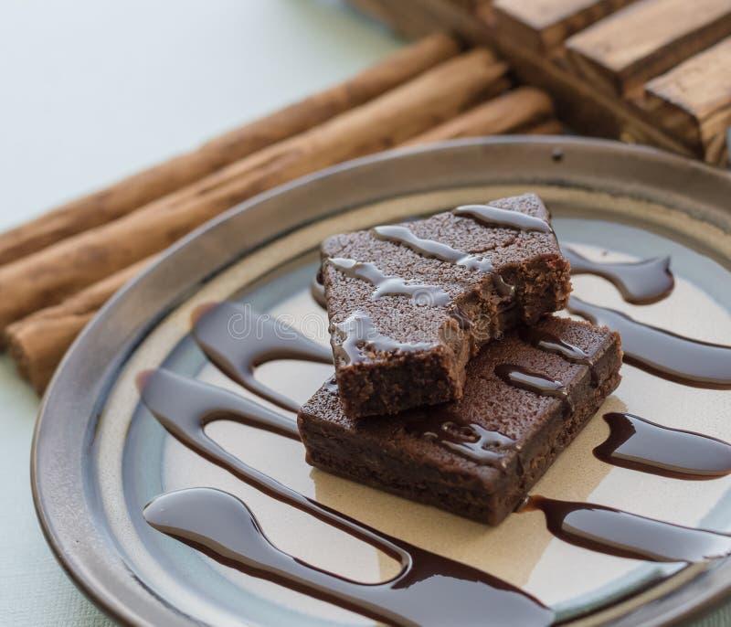 Brownie πρόχειρο φαγητό στοκ φωτογραφία