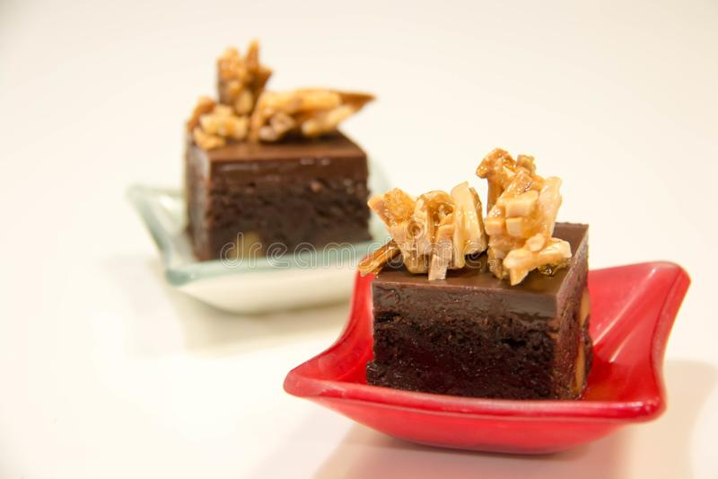 Brownie σοκολάτας μίνι κέικ στοκ φωτογραφίες με δικαίωμα ελεύθερης χρήσης