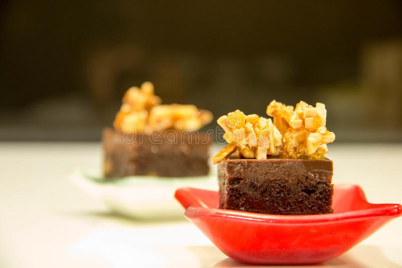 Brownie σοκολάτας μίνι κέικ στοκ φωτογραφία